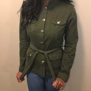 Jackets & Blazers - Olive Green Military Style Jacket